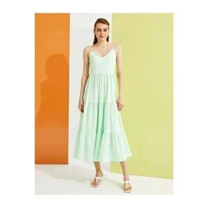 Koton Women's Green Patterned Dress