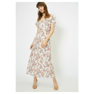 Koton Women's Brown V-Neck Dress