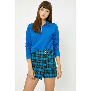 Koton Women's Blue Check Skirt
