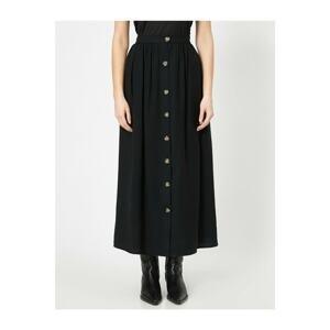 Koton Women's Button Detailed Skirt