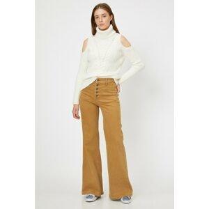 Koton Women's Brown Pocket Detailed Trousers