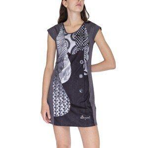 Desigual Šaty Woman Knitted Dress Short Sleeve