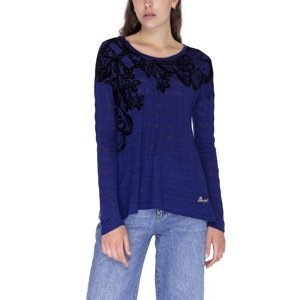 Desigual Tričko Woman Knitted T-Shirt Long Sleeve