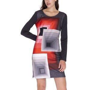 Desigual Šaty Woman Knitted Dress Long Sleeve