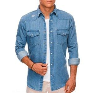 Edoti Men's shirt with long sleeves K585