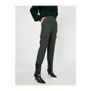 Koton Women's Green Pocket Detailed Trousers