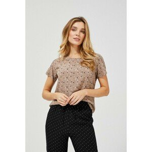 Viscose blouse with a print - brown