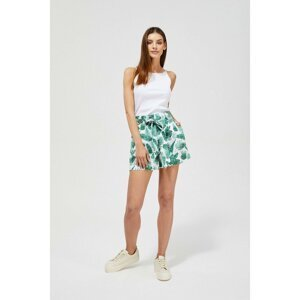 Shorts with a print - white