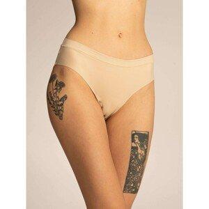 Plain light beige women's panties