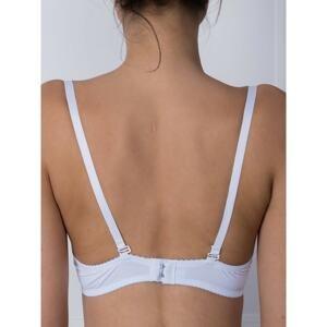 Plain white bra