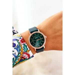 Watch On A Leather Strap Nickel Free ERNEST Dark Green