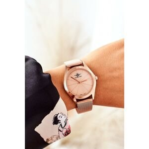Watch On Mesh Bracelet Michael John Rose Gold