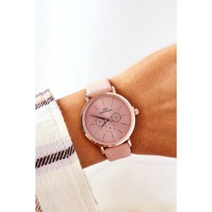 Watch On A Leather Strap Giorgio&Dario Pink