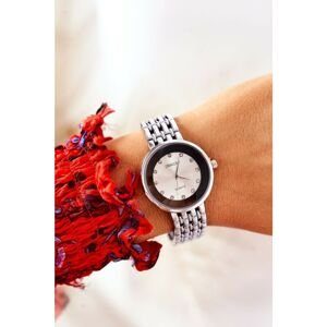 Watch On Bracelet With Cubic Zirconia ERNEST Silver