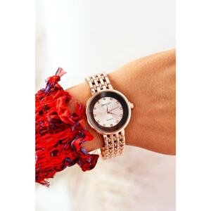 Watch On Bracelet With Cubic Zirconia ERNEST Rose Gold