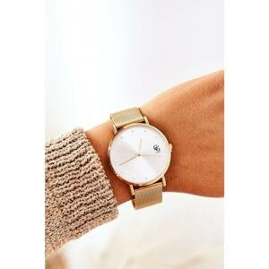 Watch With Big Dial GG Luxe Gold
