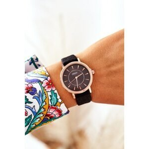 Watch On A Leather Strap Nickel Free ERNEST Black