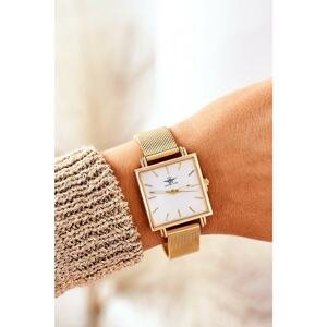Watch With Square Dial Michael John Gold