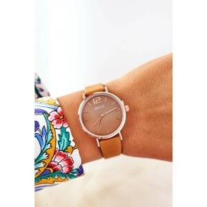 Watch On A Leather Strap Nickel Free ERNEST Camel