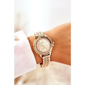 Watch On Bracelet With Cubic Zirconia ERNEST Gold