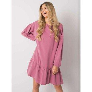 Dusty pink cotton dress