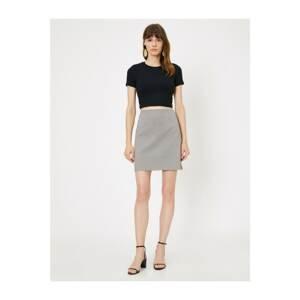Koton Women's Gray Check Skirt