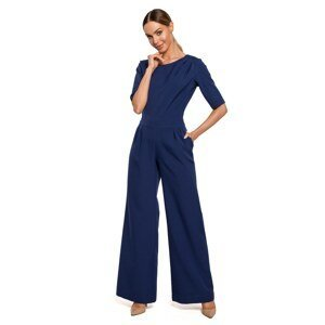 Made Of Emotion Woman's Jumpsuit M611 Navy Blue