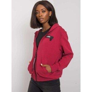 Women's maroon hooded sweatshirt