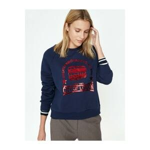 Koton Women's Navy Sweatshirt