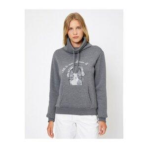 Koton Women's Gray Love Sweatshirt