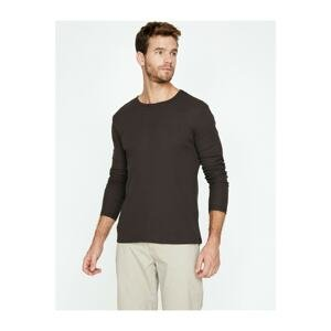 Koton Men's Purple T-Shirt