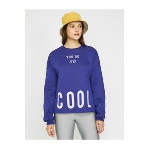 Koton Letter Printed Sweatshirt