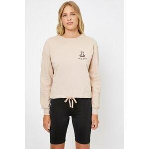 Koton Women's Ecru Love Sweatshirt
