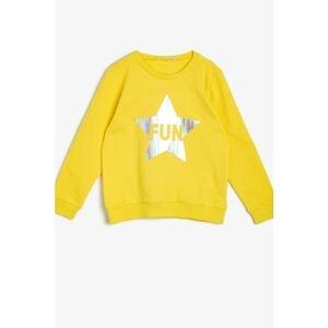 Koton Girl Yellow Sweatshirt