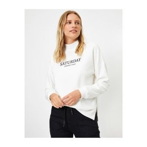 Koton Women's Ecru Sweatshirt