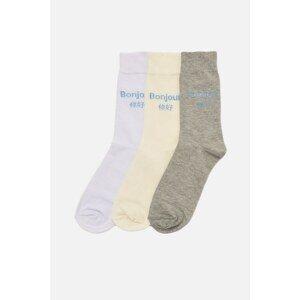 Trendyol Multicolor Men's 3-Pack Cuff Socks