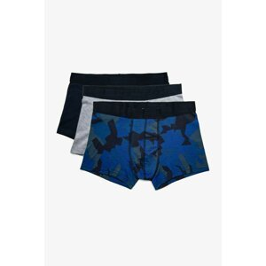 Koton Men's Navy Blue 3-pack Boxer