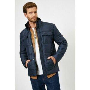 Koton Men's Navy Blue Coat