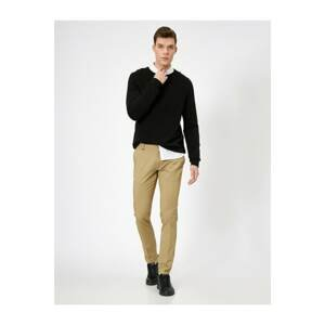 Koton Men's Ecru Pocket Detailed Trousers