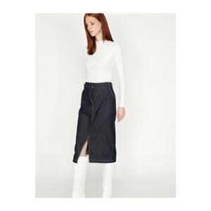 Koton Women's Belt Detailed Skirt