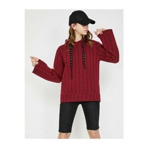 Koton Women's Claret Red Sweatshirt