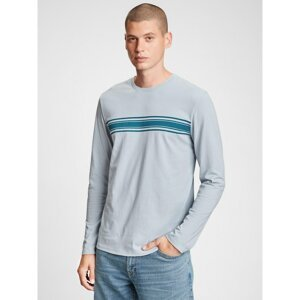 GAP T-shirt v-ls everyday soft crew chest stripe print