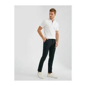 Koton Men's Checkered Slim Chino Pants