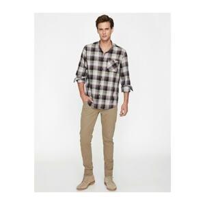 Koton Men's Brown Slim Fit Trousers