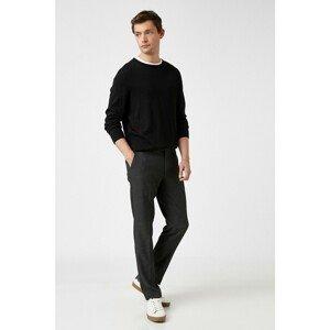 Koton Men's Gray Patterned Jeans