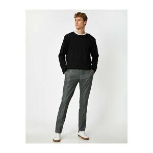 Koton Men's Gray Slim Chino Pants