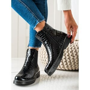 FILIPPO FASHIONABLE BLACK ANKLE BOOTS