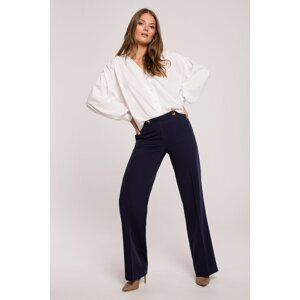 Makover Woman's Trousers K114 Navy Blue