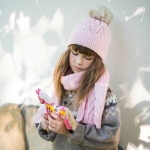 Art Of Polo Kids's Hat&Scarf cz21801 Light