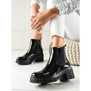FILIPPO LACQUERED FASHION ANKLE BOOTS